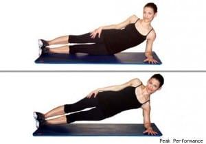 Side plank hip drop