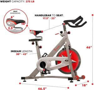 Sunny Health and Fitness Pro B901 Indoor Cycling Bike