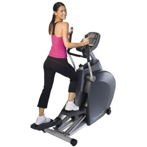 A lady is working out on the Diamondback 1260 EF