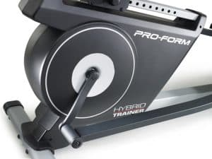 The drive and the seat adjustment of the ProForm Hybrid Elliptical Trainer