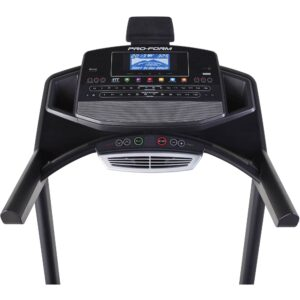 The console of the ProForm ZT10 Treadmill