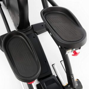 The pedals of the Sole E35 Elliptical Trainer