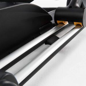 The dual rails of the Sole E35 Elliptical Trainer