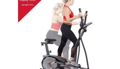 Body Champ 2-in-1 Cardio Dual Trainer Dark Gray/Black Review