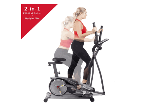 Body Champ 2-in-1 Cardio Dual Trainer Dark Gray/Black Review