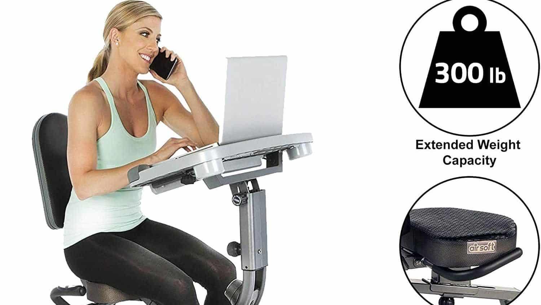 Exerpeutic WORKFIT 1000 Desk Station Folding Semi-Recumbent Exercise Bike Review