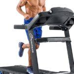 An athlete runs on the Nautilus T618 Treadmill Machine