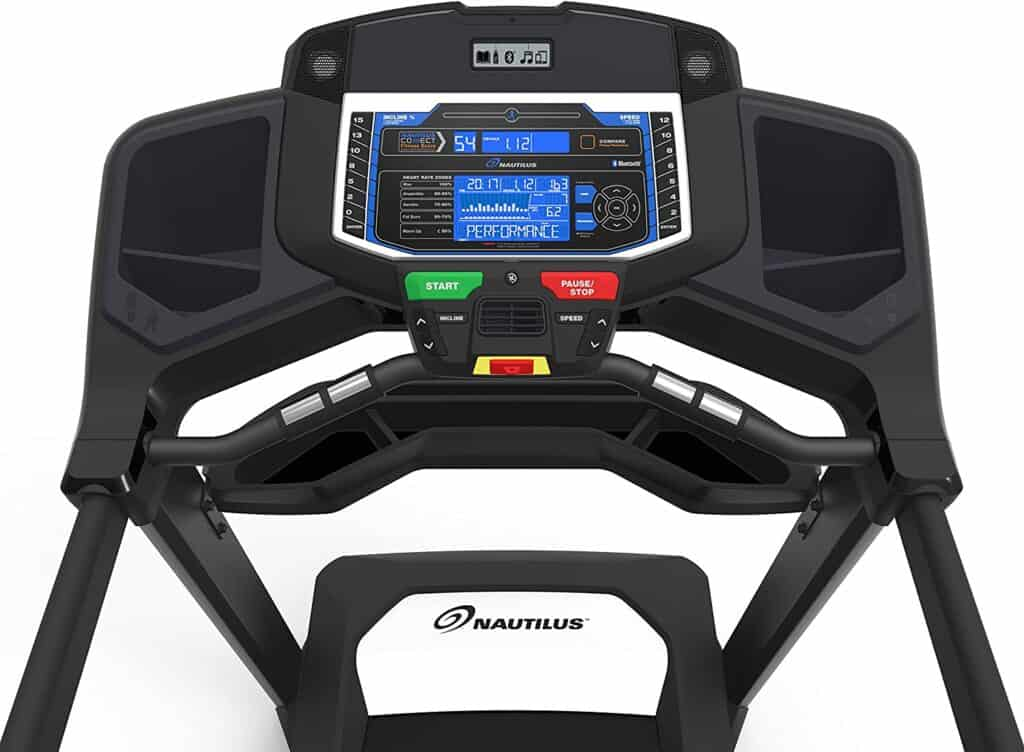 The console of the Nautilus T618 Treadmill Machine