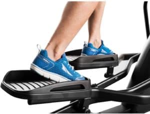 The pedals of the ProForm 250i Elliptical