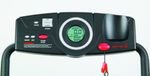The console of the Exerpeutic TF900 High Capacity Fitness Walking Electric Treadmill