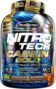 Muscle Tech Nitro-Tech Casein Gold 100% Protein Powder