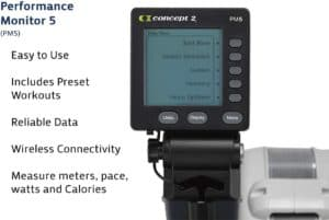The console of the Concept2 Model E Indoor Rowing Machine