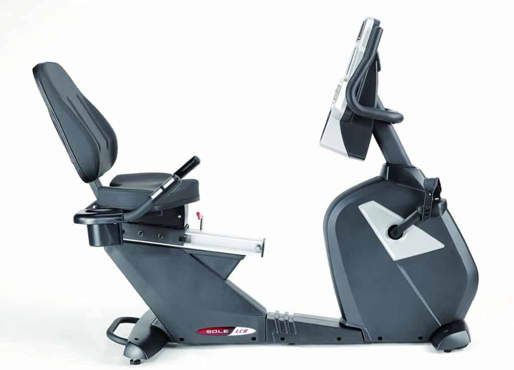 Sole Fitness LCR Light Commercial Recumbent Bike side view