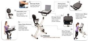 FitDesk Desk Exercise Bike and Office Workstation with Massage bar 2.0 vs. 3.0 Review