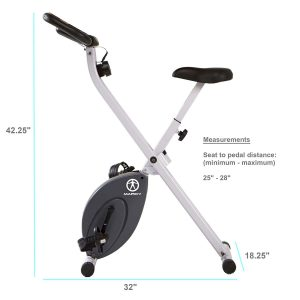 Marcy Foldable Exercise Bike with Adjustable Resistance NS-652 Review
