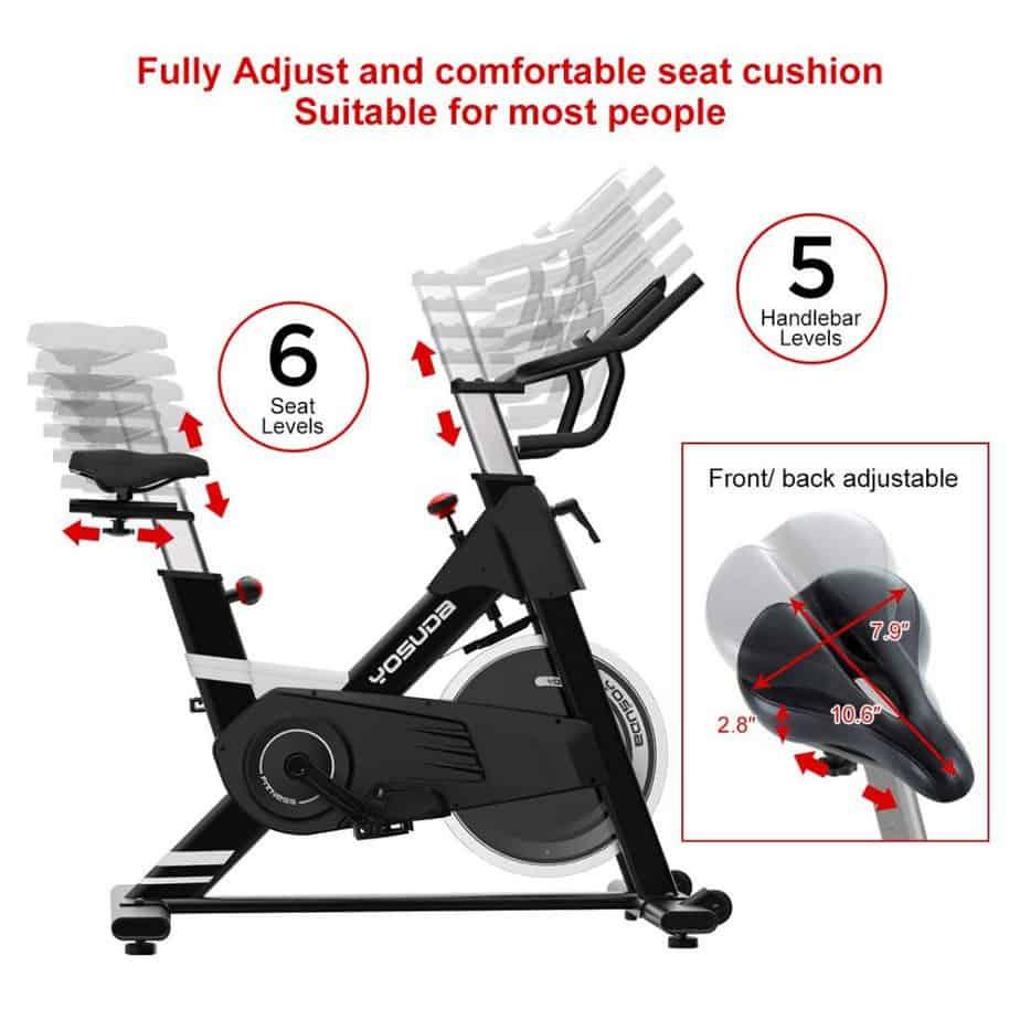 Yosuda Adjustable Indoor Exercise Bike L-005 Review