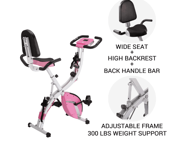 PLENY 3-in-1 Total Body Workout Exercise Bike w/Backlit Screen Review
