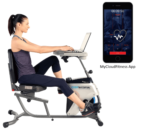 Exerpeutic 2500 Bluetooth 3 Way Adjustable Desk Recumbent Exercise Bike Model 7170 Review