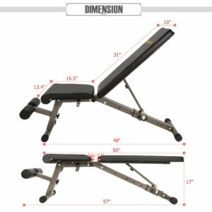 Bonnlo Upgraded Adjustable Bench