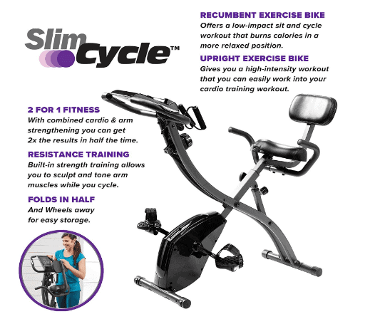 BulbHead Slim Cycle 2-in-1 Stationary Exercise Bike Review