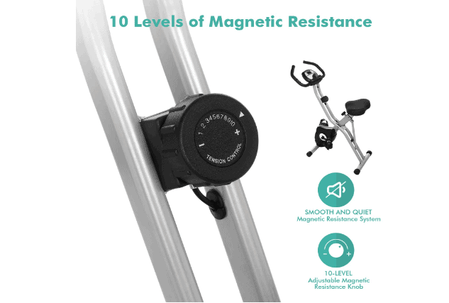 ANCHEER Folding Magnetic Resistance Bike with 10 adjustable Levels Review