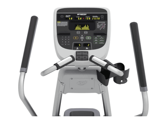 Precor EFX 835 Commercial Series Elliptical Fitness CrossTrainer's console and handlebars