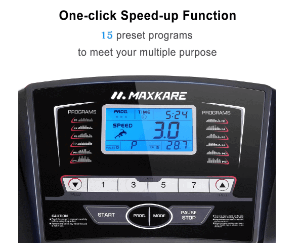 MaxKare 2.5 HP with 15 Pre-Set Programs Treadmill Review