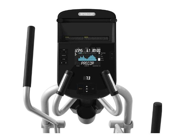 Precor EFX 222 Energy Series Elliptical Crosstrainer's console and handlebars