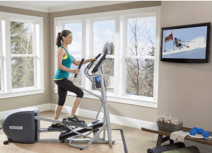 Precor EFX 222 Energy Series Elliptical Crosstrainer machine used for workouts