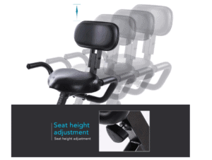 MaxKare Magnetic Folding Semi-Recumbent Bike's semi-recumbent seat