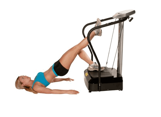 A lady using the Confidence Fitness Slim Full Body Vibration NHCFV-2000 Machine