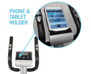 EFITMENT Compact Magnetic Elliptical Trainer Model E005's console and the fixed handlebars