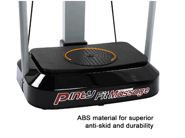 Pinty 2000W Whole Body Vibration Platform Exercise Machine baseboard featuring the swivel board with a reflex massage