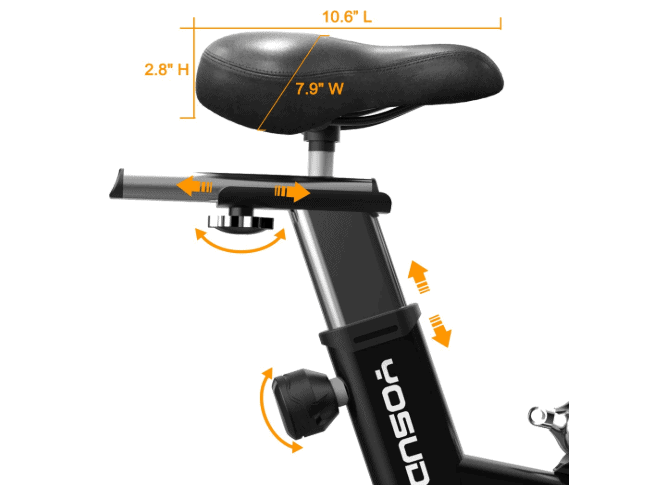 YOSUDA Indoor Exercise Cycling Bike L-007's 4-way adjustable seat