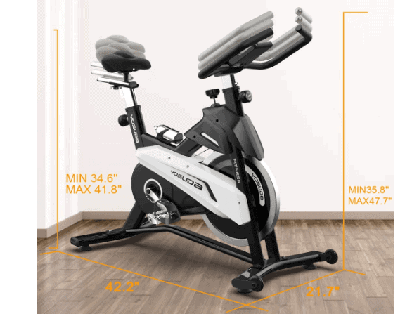 YOSUDA Indoor Exercise Cycling Bike L-007 with dimensions