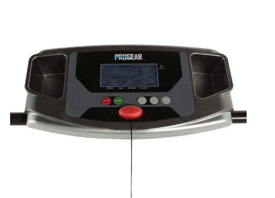 ProGear HCXL 4000 Walking and Jogging Treadmill's console