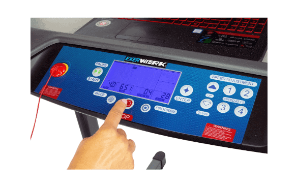 The console of the Exerpeutic 5000 ExerWork Desk Treadmill Model 7906