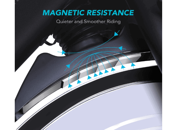 MaxKare Magnetic Indoor Cycling Bike's magnetic resistance system