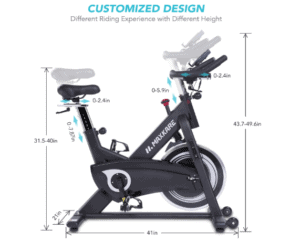 MaxKare Magnetic Indoor Cycling Bike is customizable