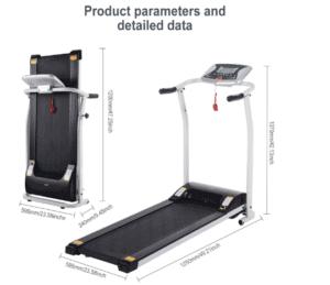 Folded Miageek Fitness Folding Electric Treadmill