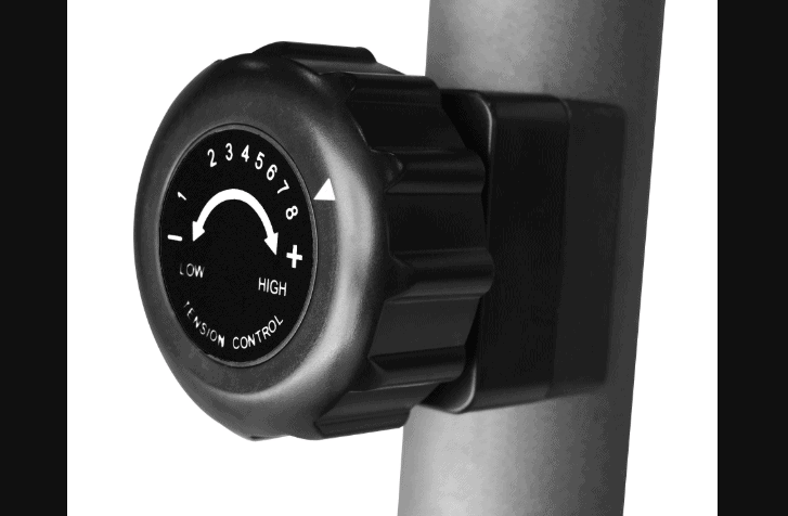 The Resistance Control Knob of the Exerpeutic Magnetic Recumbent ME-709 Bike
