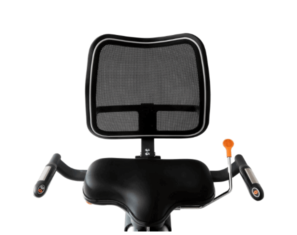 The seat of the 3G Cardio Elite RB Recumbent Bike
