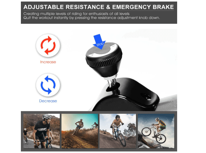 The Resistance tension knob of the GOPLUS Indoor Cycling Bike II