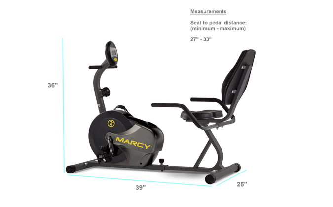 Marcy Magnetic Resistance Recumbent Bike (NS-716R)