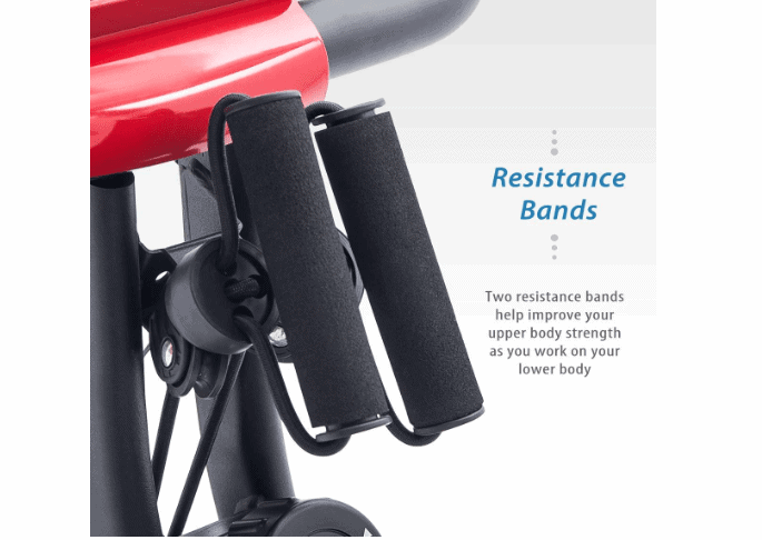 The resistance bands on the Merax 3 in 1 Exercise Bike