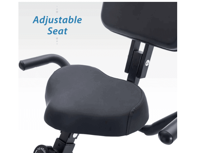 The seat of the Merax 3 in 1 Exercise Bike
