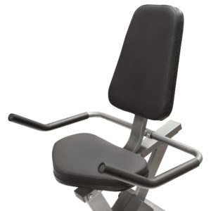 The seat of the Marcy Magnetic Recumbent Bike NS-40502R