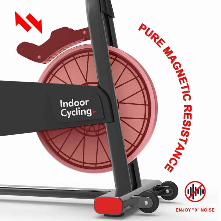 The resistance of the MEVEM Magnetic Indoor Cycling Bike