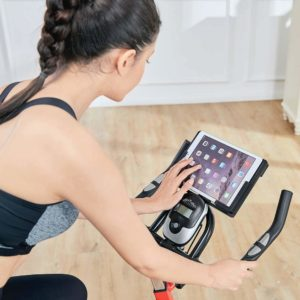 Console and tablet holder of the Pooboo L NOW Indoor Cycling Bike D760