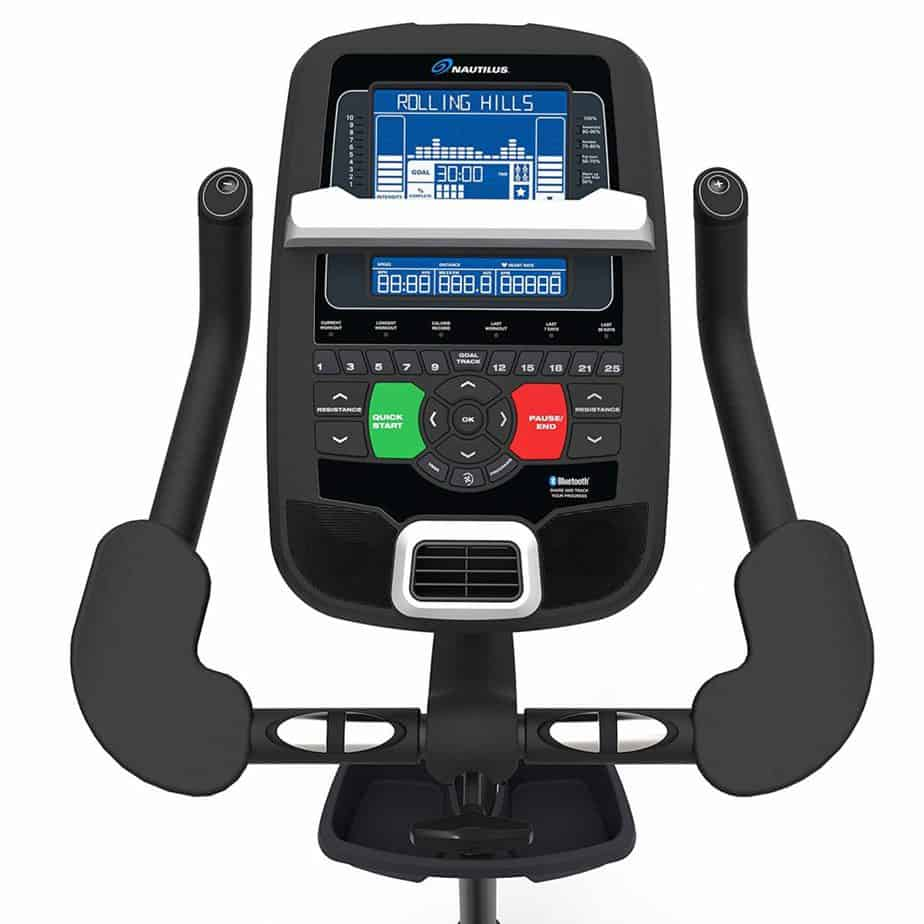 Nautilus U618 Upright Bike (Model 100653) console